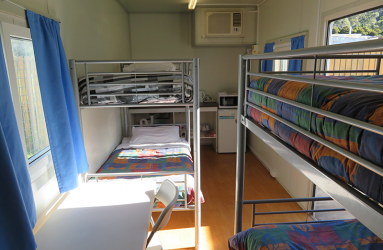 2 or 4 bed bunk rooms